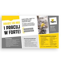 Materiały rekrutacyjne: plakaty, ulotki, ogłoszenia